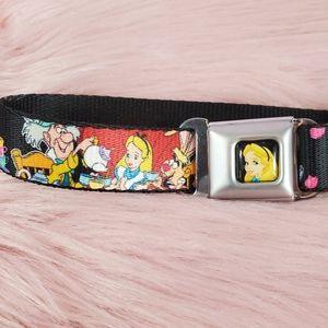 Buckle Down Alice In Wonderland Dog Collar